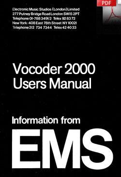Vocoder 2000 manual